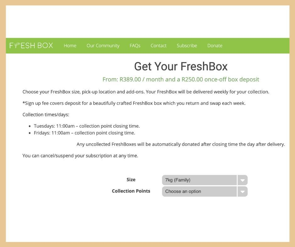 CUSTOMIZE FRESHBOX