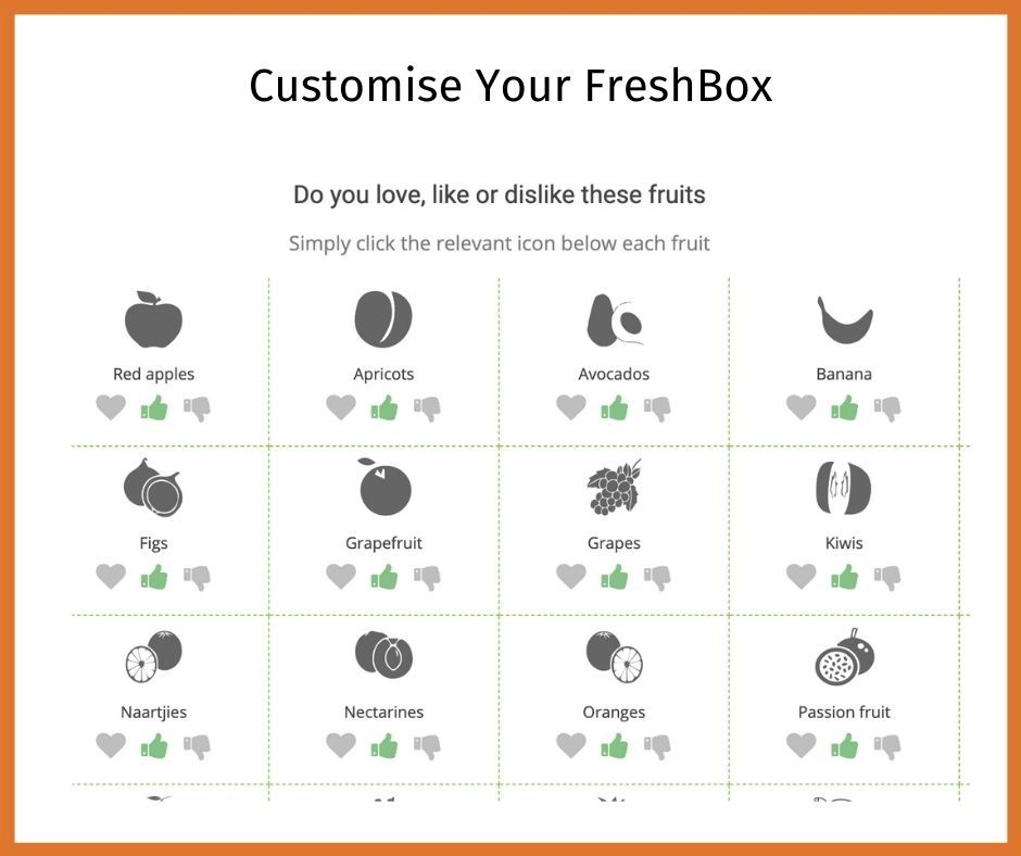 Freshbox subscription step 4
